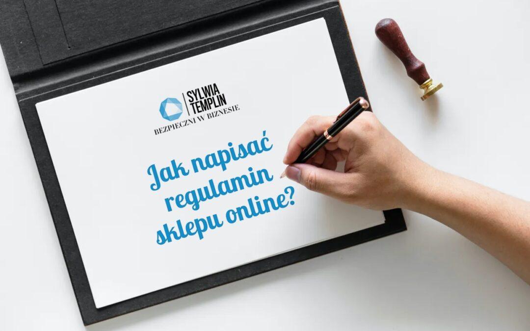 Jak napisać regulamin sklepu online