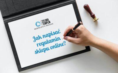 Jak napisać regulamin sklepu online?
