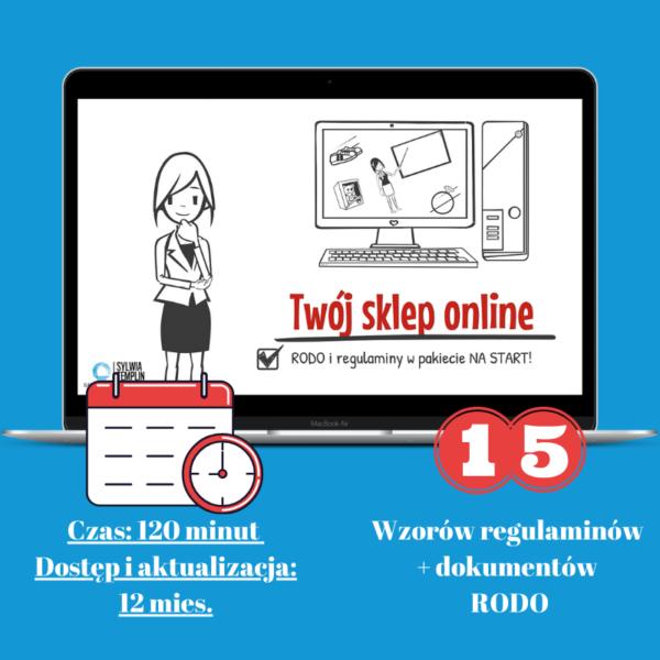 Pakiet RODO i regulamin sklepu dla sklepu online